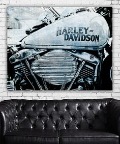 Harley Davidson Wrapped Canvas by Garbo Peng #zulily #zulilyfinds
