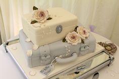 original tarta de bodas de estilo vintage