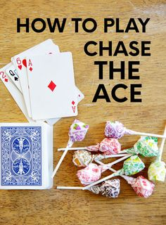 Looking for easy card games? Try out this super simple game for players called Chase the Ace. Printable instructions included below. Family Card Games, Fun Card Games, Card Games For Kids, Kids Cards, Games With Cards, One Player Card Games, Family Activities, Birthday Games For Kids, Therapy Activities
