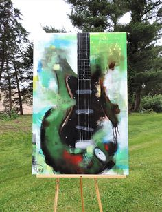 • Guitar Painting • Painting • Abstract Painting • Etsy Paintings • Acrylic Painting • Stretched Canvas • Art • Green Black • Artwork • Paintings for Sale • Heavy metal • Facebook • Pinterest • Original Painting • Urban Painting • Artist • Large Painting • Hand Painted • Handmade • Buy Direct • Canvas • Heather Day • Modern • Contemporary • Fine Art • Wall Art • Collectibles • Vibrant Painting • Popular Painting • Unique • One-of-a-kind *DESCRIPTION: •Original painting made in the U.S.A…