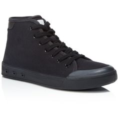 rag & bone Standard Issue High Top Lace Up Sneakers ($235) ❤ liked on Polyvore featuring shoes, sneakers, hi tops, sports shoes, high top trainers, lace up shoes and high top shoes