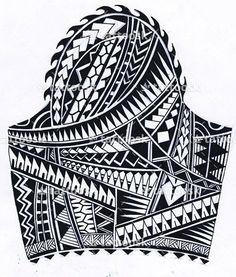 Polynesian Sleeve Tattoo ❥❥❥ https://tattoosk.com/polynesian-sleeve-tattoo#261