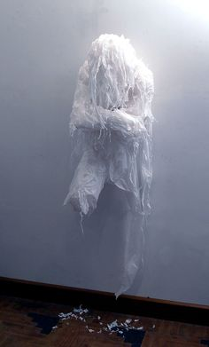 Discarded Plastic Bags Sculptures by Khalil Chishtee #Art, #Sculpture, #Plastic bags