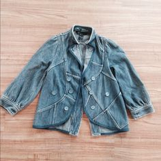 Marc Jacobs jean jacket I worn this three times a very unique light jacket no stains no holes no rips.Low offers will be ignored Marc by Marc Jacobs Jackets & Coats Jean Jackets
