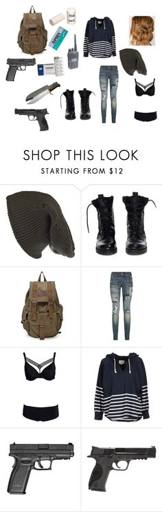 """""""Zombie Apocalypse"""" by bella-schroeder ❤ liked on Polyvore featuring Damsel in a Dress, Theyskens' Theory, Polo Ralph Lauren, Marlies Dekkers, Band of Outsiders, POLICE and Smith & Wesson"""