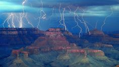 Lightning Strikes over the Grand Canyon
