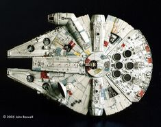 John Boswell Rebuilds MPC's Rebel Transport and Millenium Falcon. Han Solo And Chewbacca, Nave Star Wars, Millenium Falcon, Star Destroyer, Creative Thinking, Top View, Aerial View, Birthday Party Themes, Stars