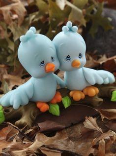 Souvenirs Pajaritos en porcelana fria descargá el paso a paso en www.eviadigital.com #manualidades y regalá a tus #amigos en su día