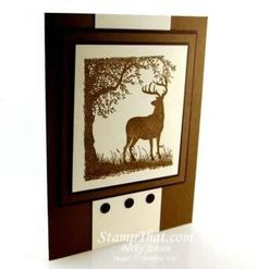 Stampin' Up! Nature Silhouettes - handmade masculine card - set retiring in May