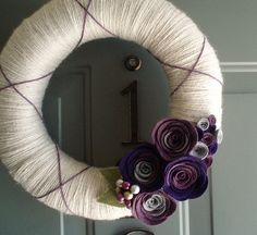Felt and yarn wreath.