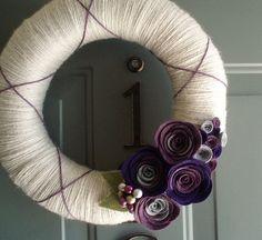Felt & yarn wreath