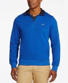 Lacoste Long-Sleeve Half-Zip Sweatshirt - Gray