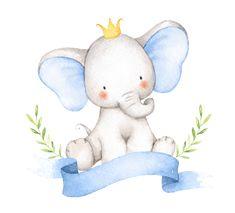 Baby Elephant Drawing, Baby Animal Drawings, Cute Drawings, Elephant Watercolor, Elephant Nursery Art, Image Elephant, Cute Elephant, Baby Clip Art, Baby Art