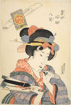 Keisai Eisen (1790-1848): Eight Favorite Things in the Modern World: Theater, woodblock print, ca. 1823.