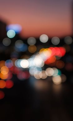 1280x2120 Evening, bokeh, blur, colorful wallpaper