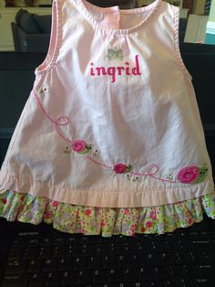 Monogrammed dress with bow for my niece!