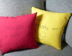 Le coussin « Post It »