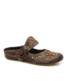 Love this Coffee Embroidered Slip-On Shoe by JohnFashion on #zulily! #zulilyfinds
