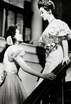 """Teresa Wright & Bette Davis in The Little Foxes dir. by William Wyler (1941) - """"Why, Mama? Are you afraid?"""""""