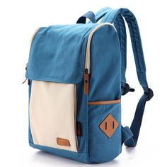 Multi-color Square Canvas Style Backpacks for Girls
