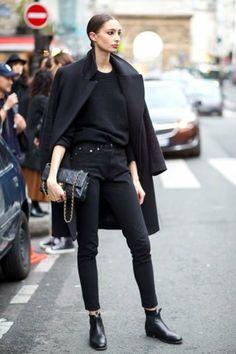 adorable-tenue-stylée-jean-noir-tenue-tout-noir