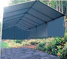Temporary Portable Carport Shelter .Save Hundred$ Make-Your-Own Kit. Kit Prices from $897. ** See: http://www.hiscoshelters.com Temporary #portable #carport #shelter #kit