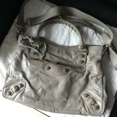 BALENCIAGA Preloved Town Bag in Beige - http://www.reebonz.com.sg/closets/item/408550