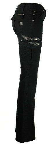 Amazon.com: Miss Me Cargo Pants Straight Jean, Black: Clothing