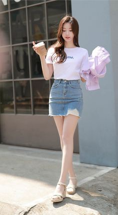 The Best Examples for Korean Street Fashion Korean Girl Fashion, Korean Fashion Summer, Korean Fashion Trends, Korean Street Fashion, Ulzzang Fashion, Kpop Fashion, Cute Fashion, Asian Fashion, Vintage Fashion