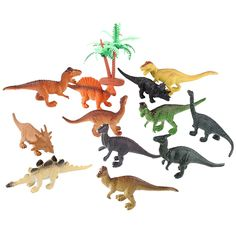 12 pcs/lot Dinosaur Mainan Set Plastik Bermain Mainan Dinosaurus Model Aksi dan Angka Hadiah Terbaik untuk Anak Laki-laki