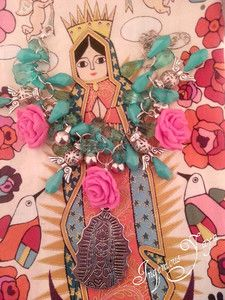 """Angels Love"" Virgencita Virgin Mary Lady Guadalupe Catholic Charm Bracelet http://www.ebay.com/itm/390614891308?ssPageName=STRK:MESELX:IT&_trksid=p3984.m1555.l2649"