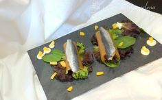 Ensalada de canelones de nectarina y sardinas marinadas versionando a Yayo Daporta