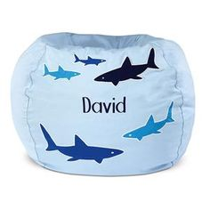 Post on Shark Attack bedroom ideas. Click through to find out where to get this bean bag.