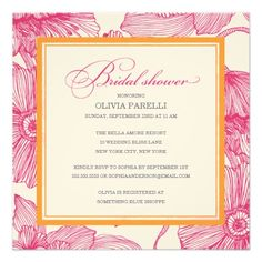 DealsORANGE + PINK FLOWERS | BRIDAL SHOWER INVITEWe have the best promotion for you and if you are interested in the related item or need more information reviews from the x customer who are own of them before please follow the link to see fully reviews