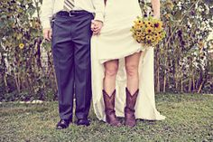 i will have the most country wedding when i get married & cowboy boots will be a must! by camille Wedding Advice, Wedding Pics, Wedding Shoes, Wedding Stuff, Trendy Wedding, Bridal Shoes, Wedding 2015, Wedding Outfits, Chic Wedding