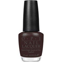 Opi Suzi Loves Cowboys (£12) ❤ liked on Polyvore featuring beauty products, nail care, nail polish, beauty, makeup, nails, dark brown, womens-fashion, shiny nail polish and opi nail care