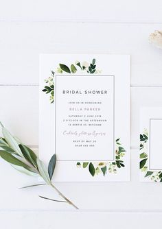 Printable bridal shower invitation and card floral kitchen tea invitation floral bridal shower classy bride modern bride Simple Bridal Shower, Bridal Shower Rustic, Bridal Shower Games, Bridal Shower Decorations, Bridal Showers, 30th Birthday Invitations, Bridal Shower Invitations, Invites, Kitchen Tea Invitations