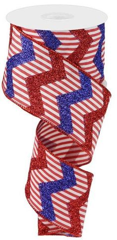 Excited to share this item from my #etsy shop: Red White Blue Patriotic Glitter Chevron ribbon, white red blue ribbon, Patriotic Ribbon, 4th of July ribbon, vertical stripe wired ribbon #blue #independenceday #hatmakinghaircrafts #canvas #red #waysidewhimsy Glitter Chevron, Chevron Ribbon, White Ribbon, Blue Glitter, Patriotic Decorations, Red White Blue, 4th Of July Wreath, Yards, 1 Pound