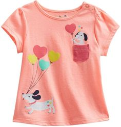 Babydoll Jumping beans ® hearts & puppies tee - baby on shopstyle.com