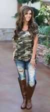 Hidden From Sight Camo High Low Top
