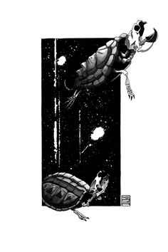 "Limited edition (10) token of Skeenee´s ""Snapping Turtle Skeletons"" available on  www.makersplace.com. #cryptoArt #skeenee #cryptoartist #skull #skullart Snapping Turtle, Sumi Ink, Anatomy Drawing, Ink Painting, Skull Art, Skeletons, Blockchain, Digital Art"