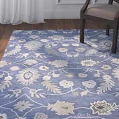 Found it at Joss & Main - Esme Azure Wool Hand-Tufted Area Rug