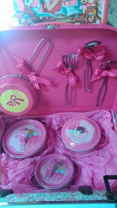 Maletin cacharritos rosa