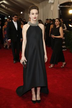 Carey Mulligan in Balenciaga at the 2015 Met Gala. Click to see more red carpet style from this year's event. (Photo: Josh Haner/The New York Times)