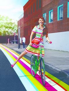 This is the perfect colorful street to ride down in a Kate Spade vespa! #ridecolorfully #katespadeny #vespa