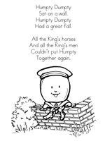 printable nursery rhyme pages FREE