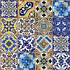 I WANT, WANT WANT some of these tiles for my dolls house! Dollhouse Miniature Ceramic Tile Spanish by JennyLTDesigns on Etsy