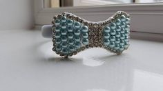 Handmade Bow Headband Pearl and Diamanté Girls and Womens