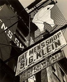 Godfrey Frankel, Fat Men's Shop, Side View, New York, 1947
