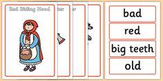 Little Red Riding Hood Character Describing Words Matching Activity